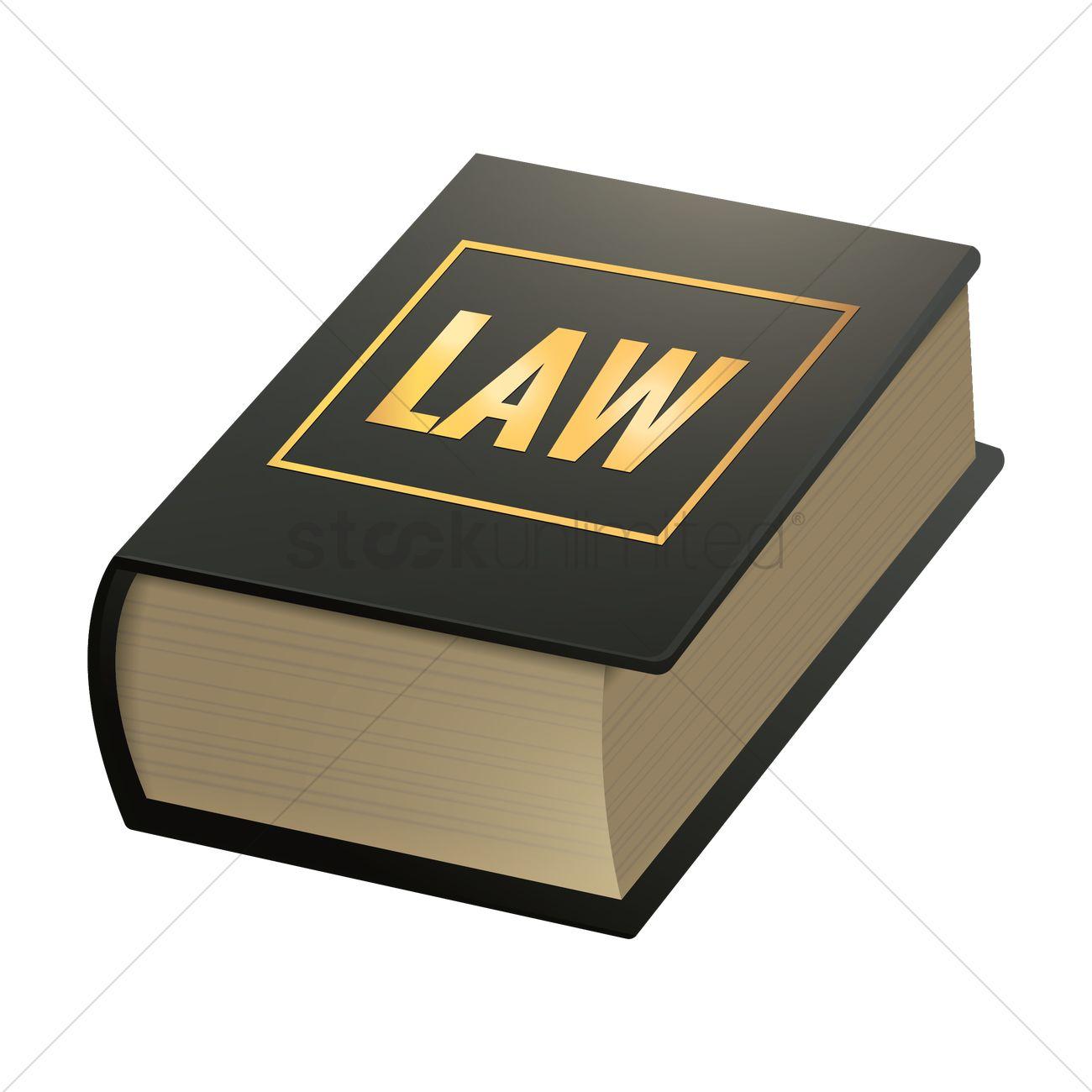 Law book Vector Image.