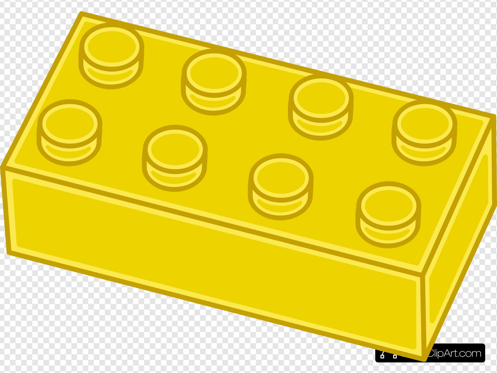 Yellow Lego Brick Clip art, Icon and SVG.