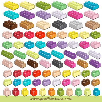 Mini Bundle Lego Bricks Clipart.