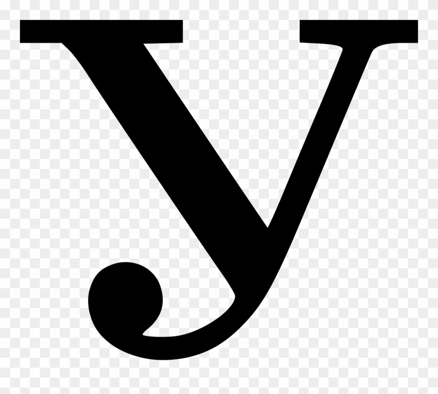 Letter Y Clipart Black And White Png Transparent Png (#280230.