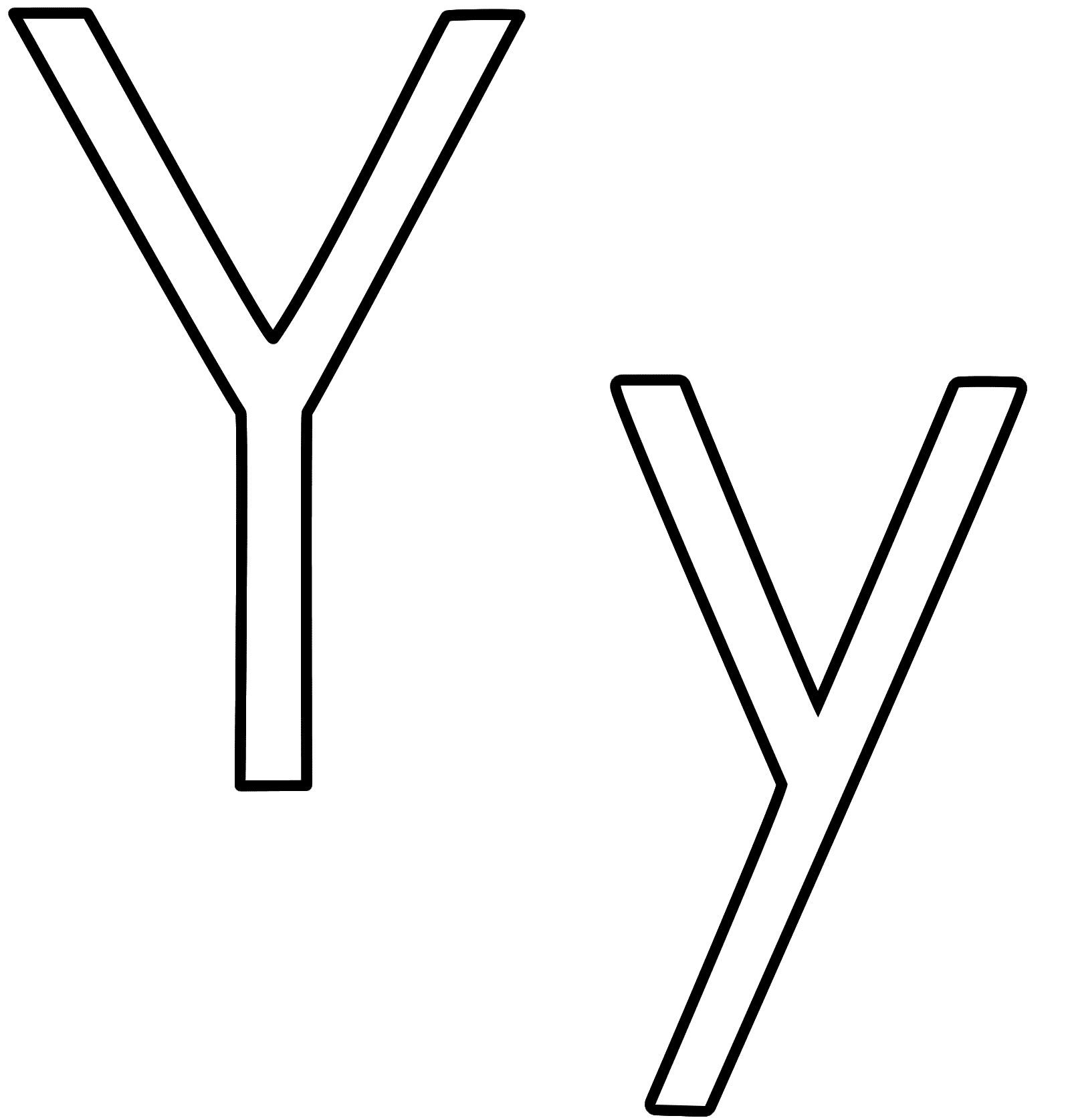 Letter Y Clip Art Black And White.