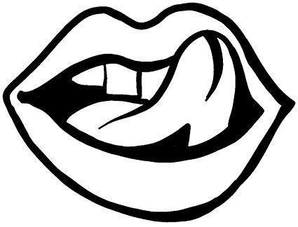 Amazon.com: hBARSCI Licking Lips Vinyl Decal.