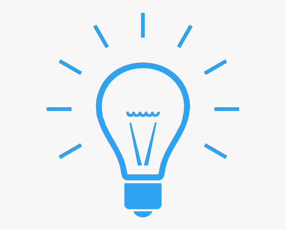 Transparent Light Bulb Png Icon.