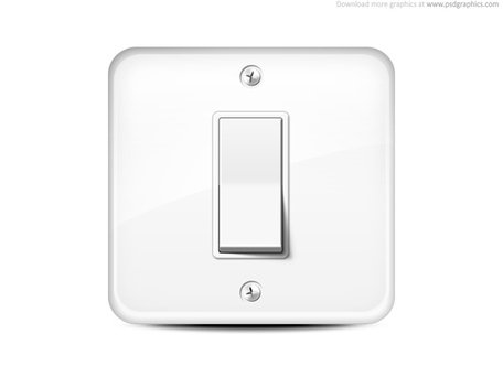 Free Light switch icon Clipart and Vector Graphics.
