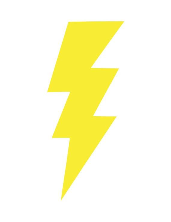 Lightning bolt .svg, .png, and .dxf cut and/or clipart files.