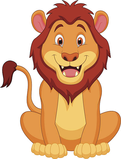 Best Sitting Lion Illustrations, Royalty.