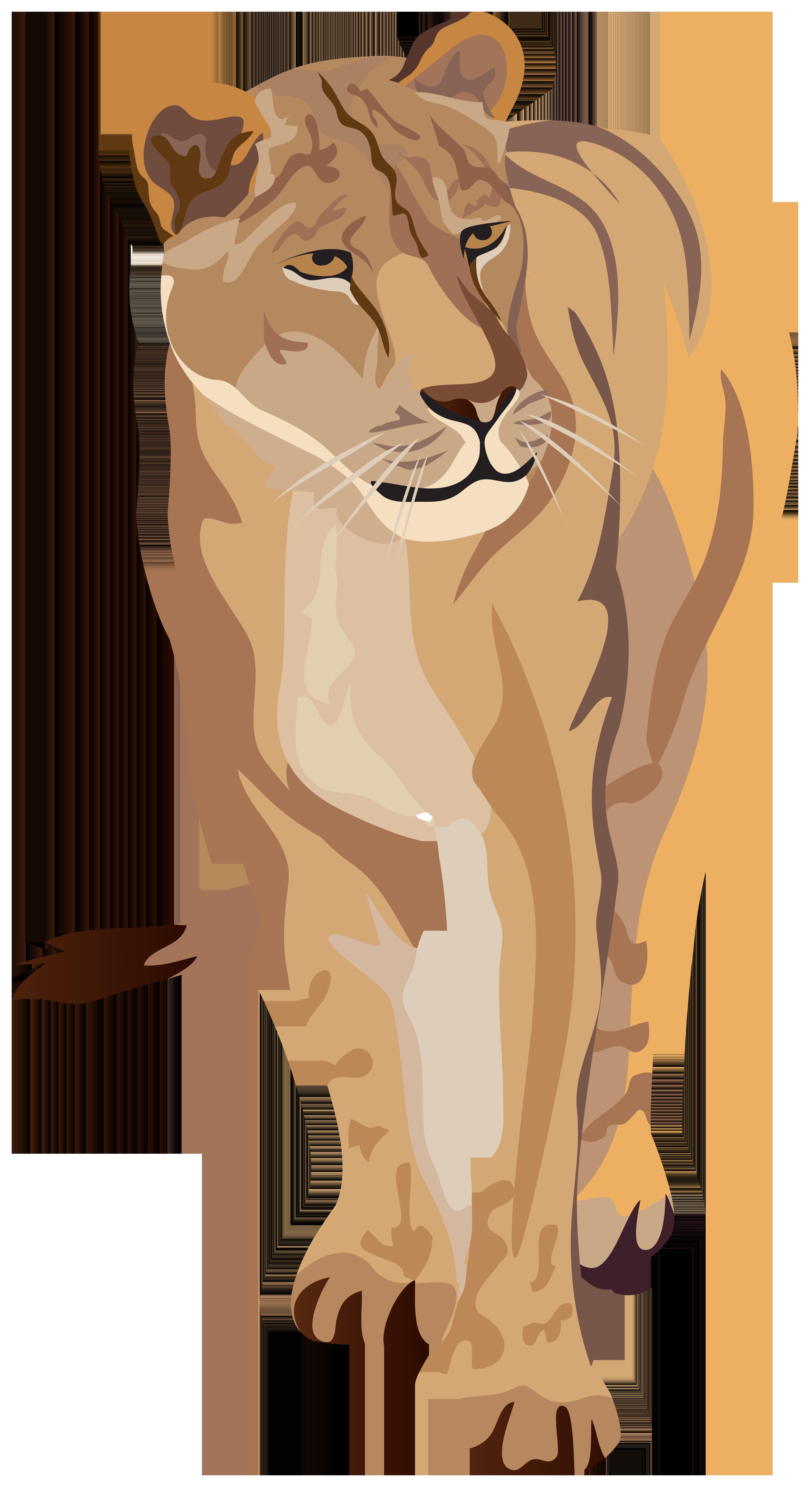 Lioness Clipart Image.