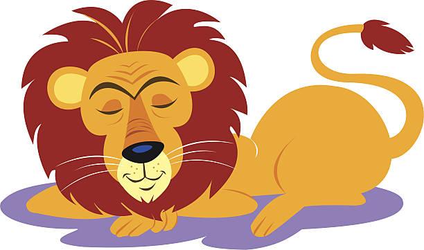 Best Sleeping Lions Illustrations, Royalty.