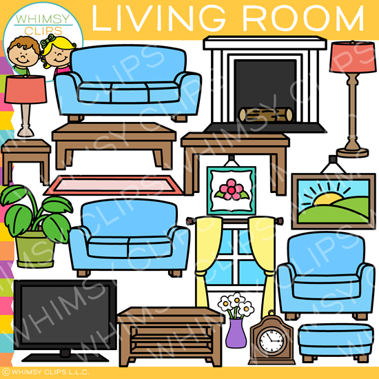 Living Room Furniture Clip Art.