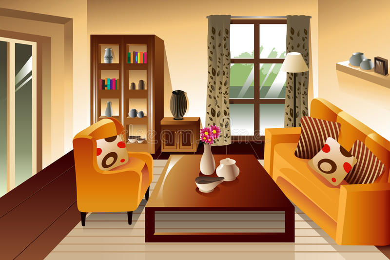 Living Room Clip Art Stock Illustrations.