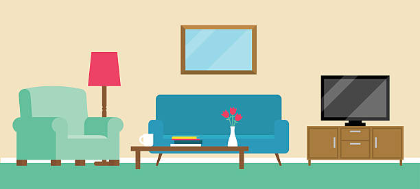 Best Living Room Illustrations, Royalty.