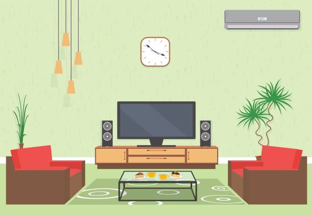 Best Living Room Illustrations, Royalty.