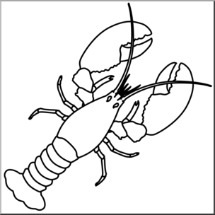 Clip Art: Lobster B&W I abcteach.com.