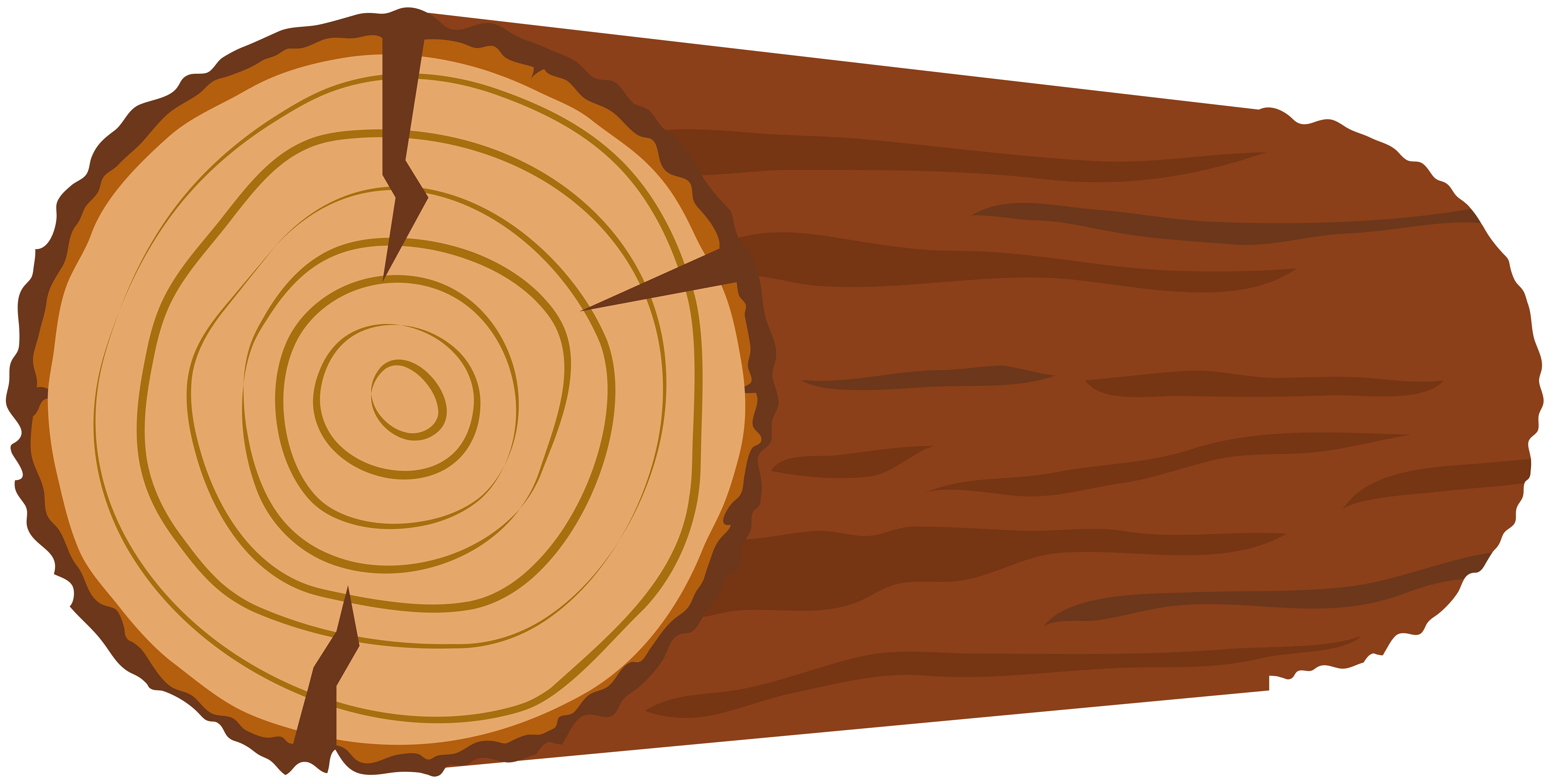Log Transparent Clip Art Image.