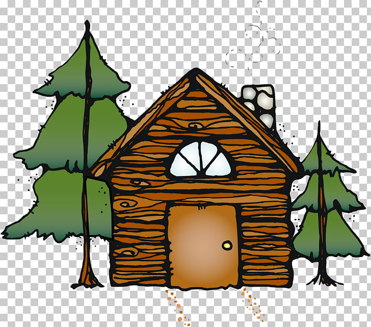 Log cabin , stewed PNG clipart.