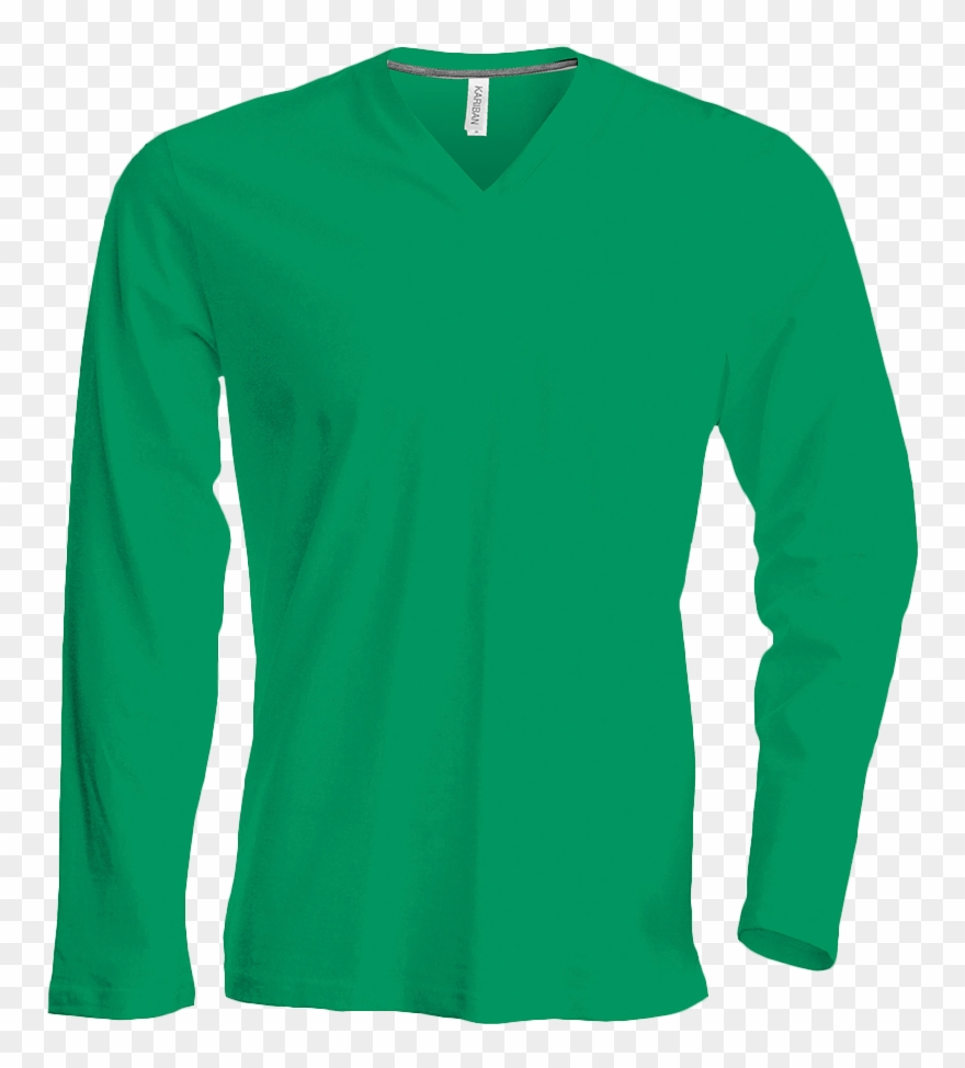 Tee Shirt Col V Manches Longues Homme.