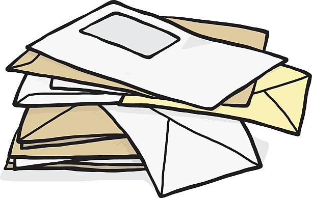 Best Pile Of Mail Illustrations, Royalty.