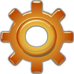 Single Gear Clip Art.