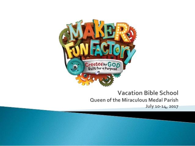 Vbs 2017 maker fun factory.