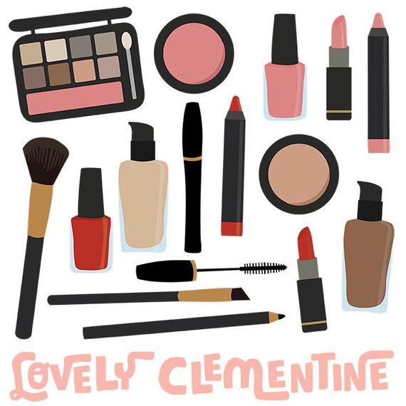 Makeup clip art images, makeup clipart, makeup vector, royalty free.