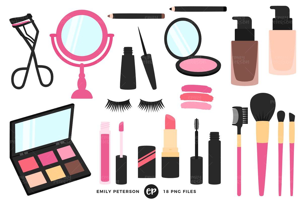 Makeup Artist Clipart.