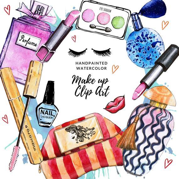 Cosmetics Clipart Fashion Clip Art Makeup Clip art Planner Stickers  Supplies Perfume clip art Lipstick clip art Beauty Must Haves clipart.