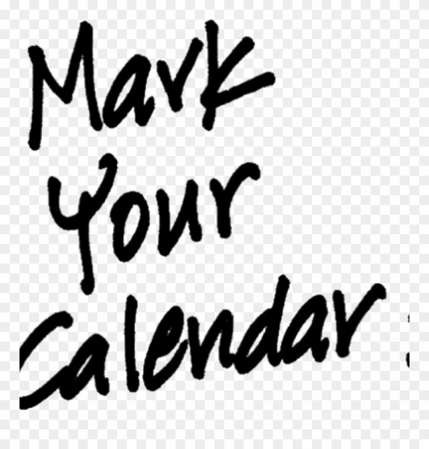 Mark Your Calendar Images Black Space Clipart.
