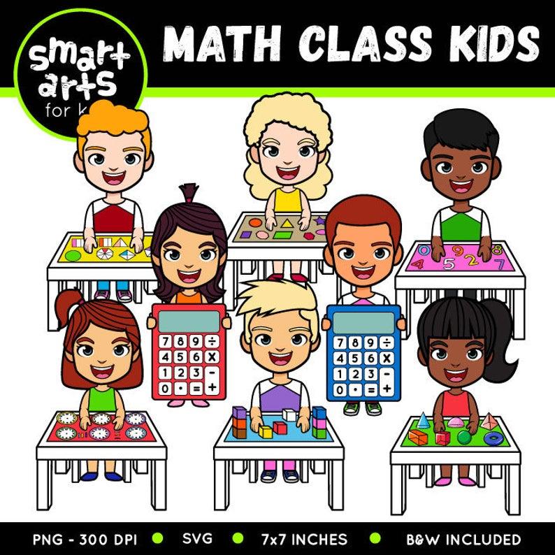 Math Class Kids Clip Art.