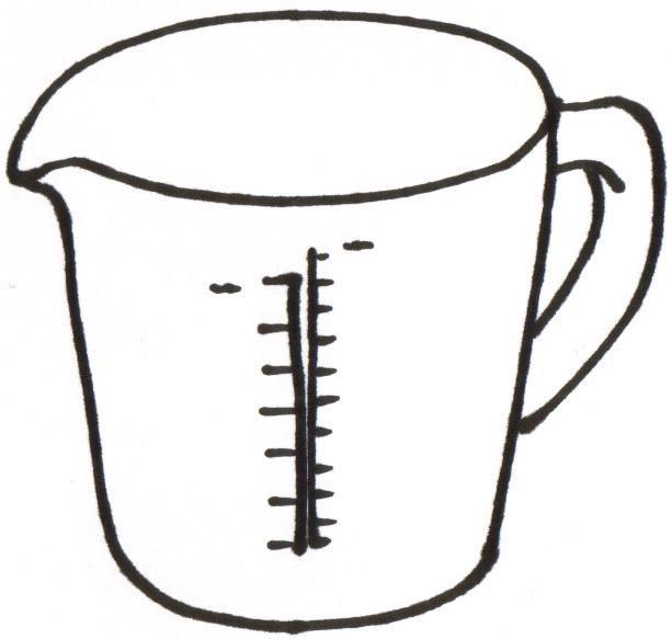 Measuring Cups 5 Spoons 6 Liquid Ingredient Clipart.