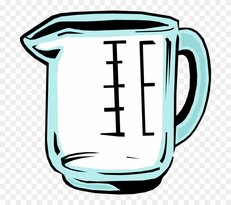 Vector Illustration Of Kitchen Utensil Measuring Cup.
