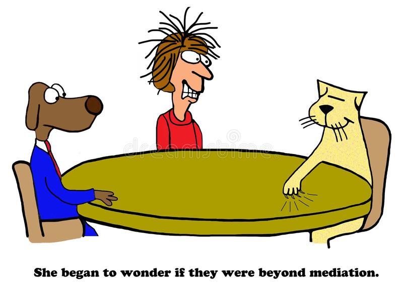 Mediation Stock Illustrations.