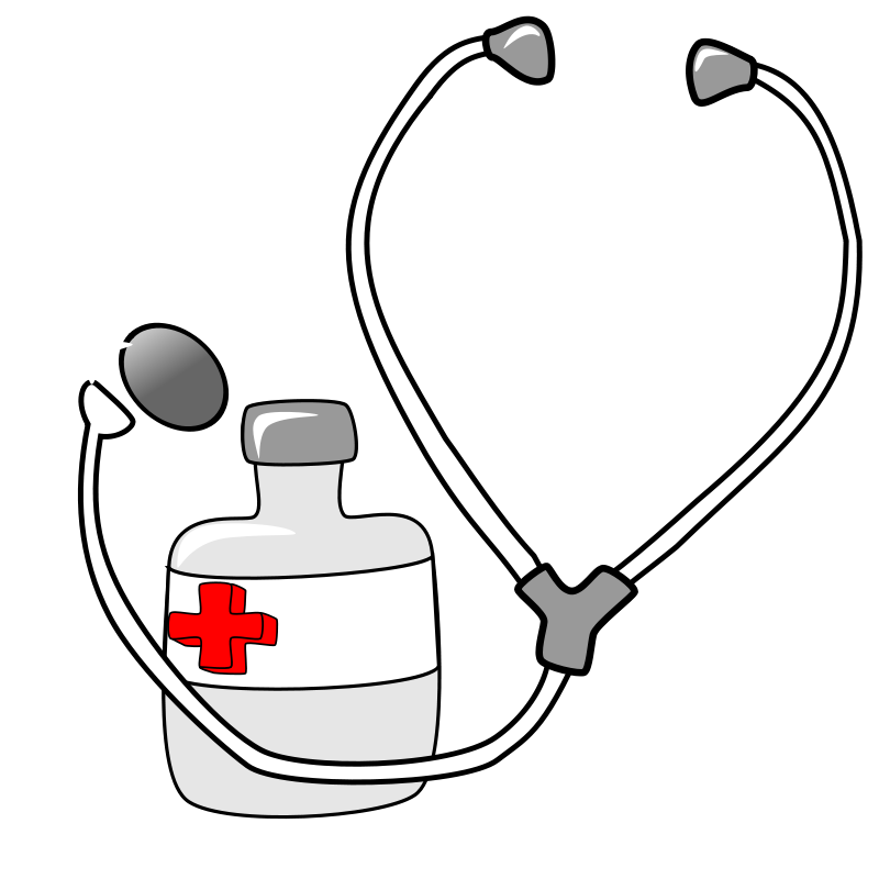 Free Clipart: Medicine and a Stethoscope.