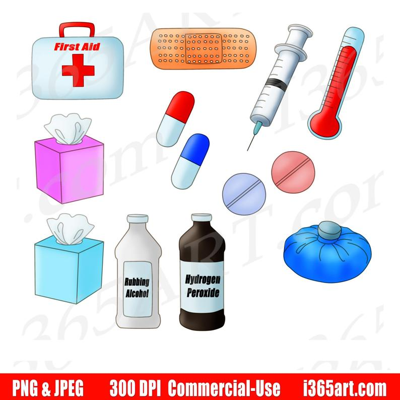 50% OFF Medical Clipart, Medical Supplies Clip Art, Healthcare, Medical  Kit, First Aid, Hospital, Planner, Scrapbooking, Commercial.