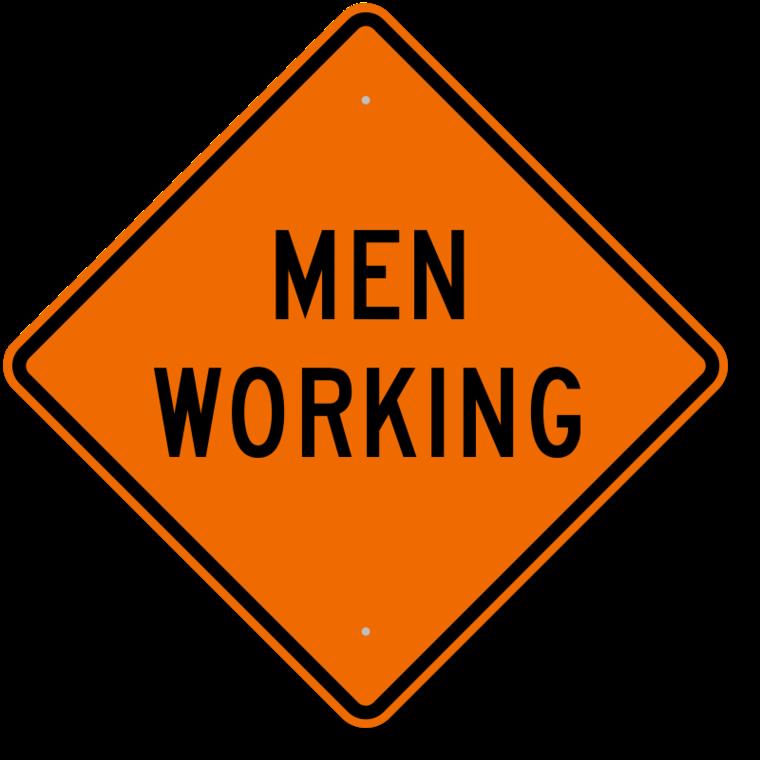 Men At Work Road Sign.