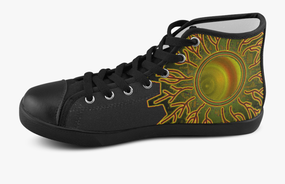 Eye Of The Universe Men's High Top Canvas Shoes.