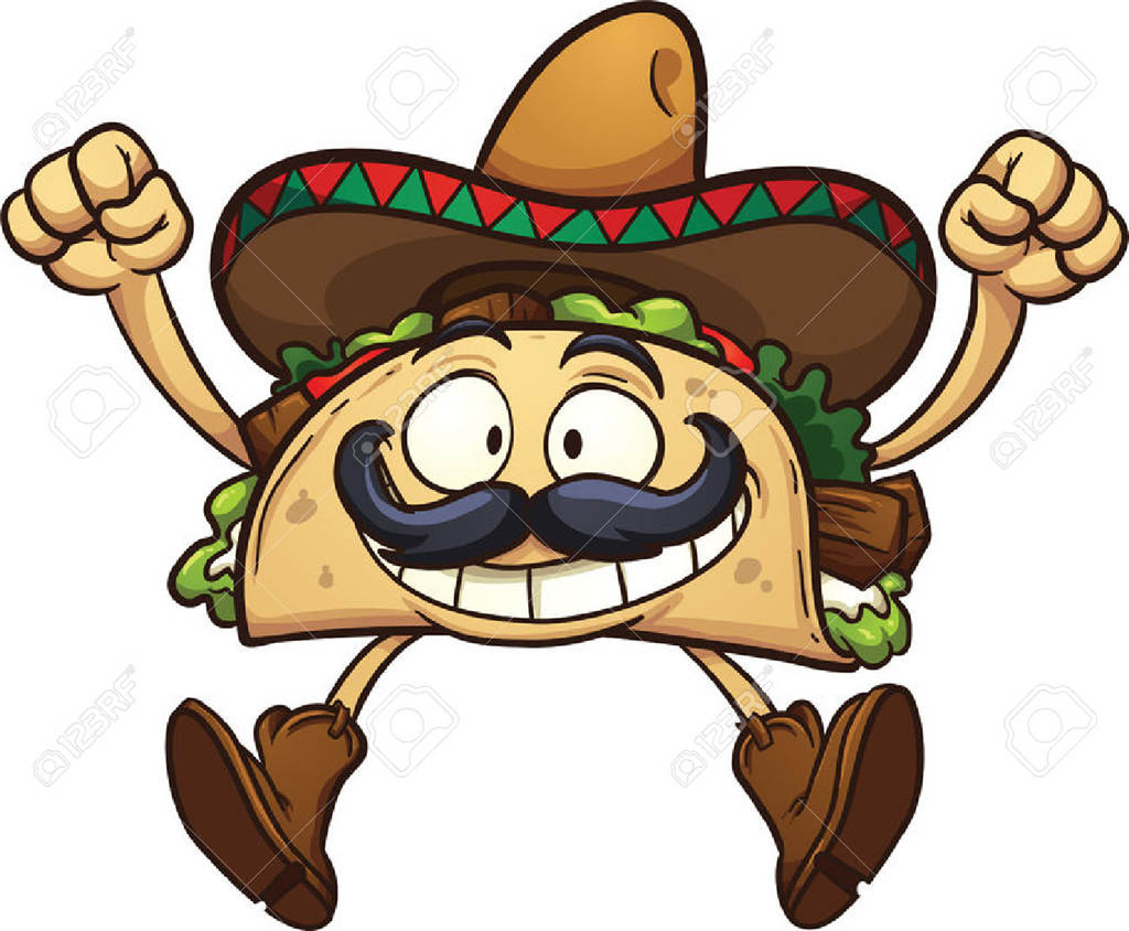 Fresh Taco Clipart Mexican.