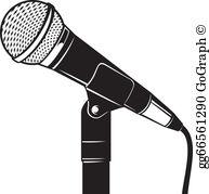A Microphone Clip Art.
