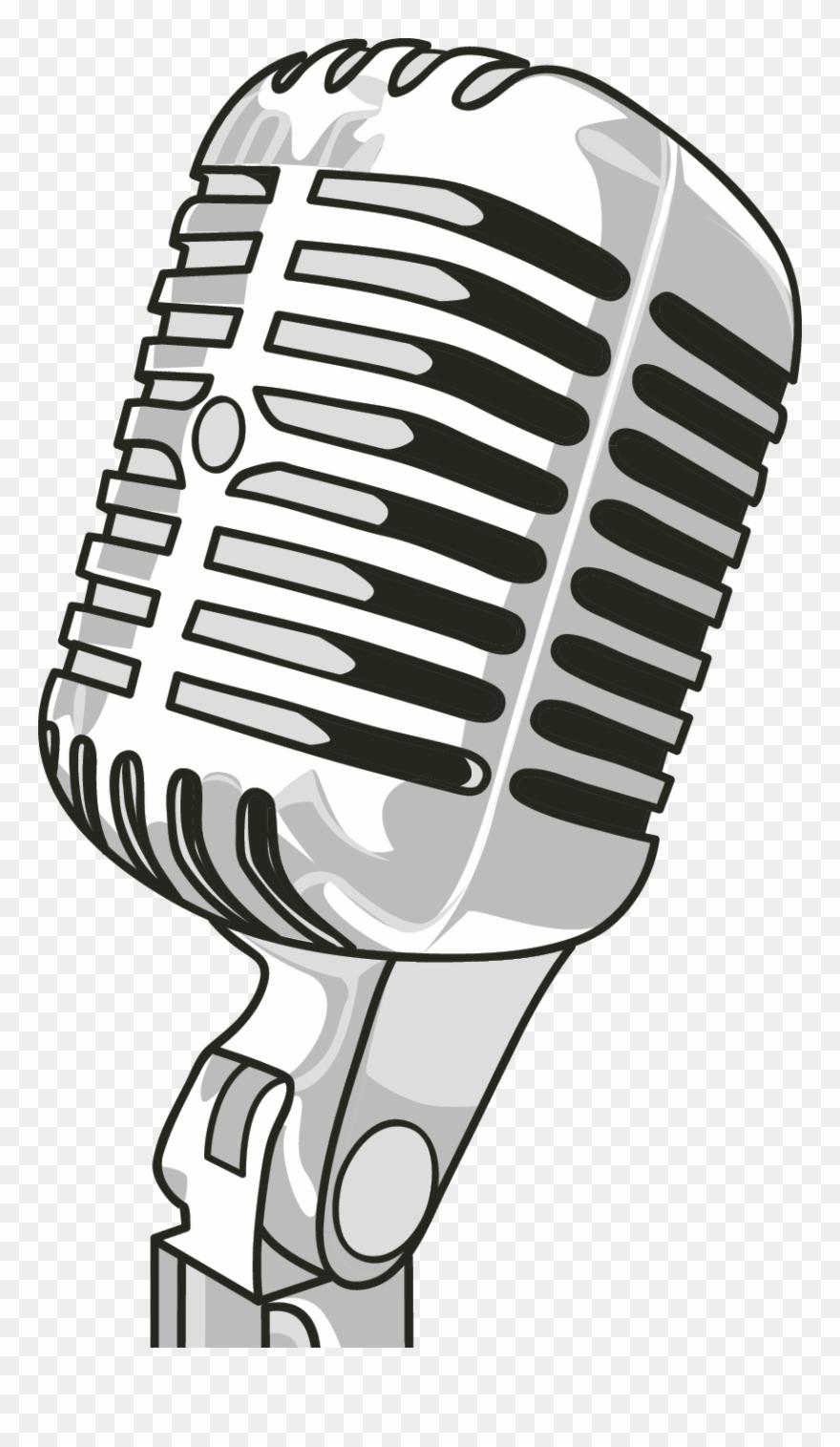 Radio Microphone Clip Art.
