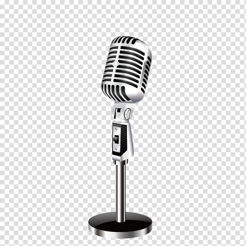 Gray microphone illustration, Microphone , microphone transparent.