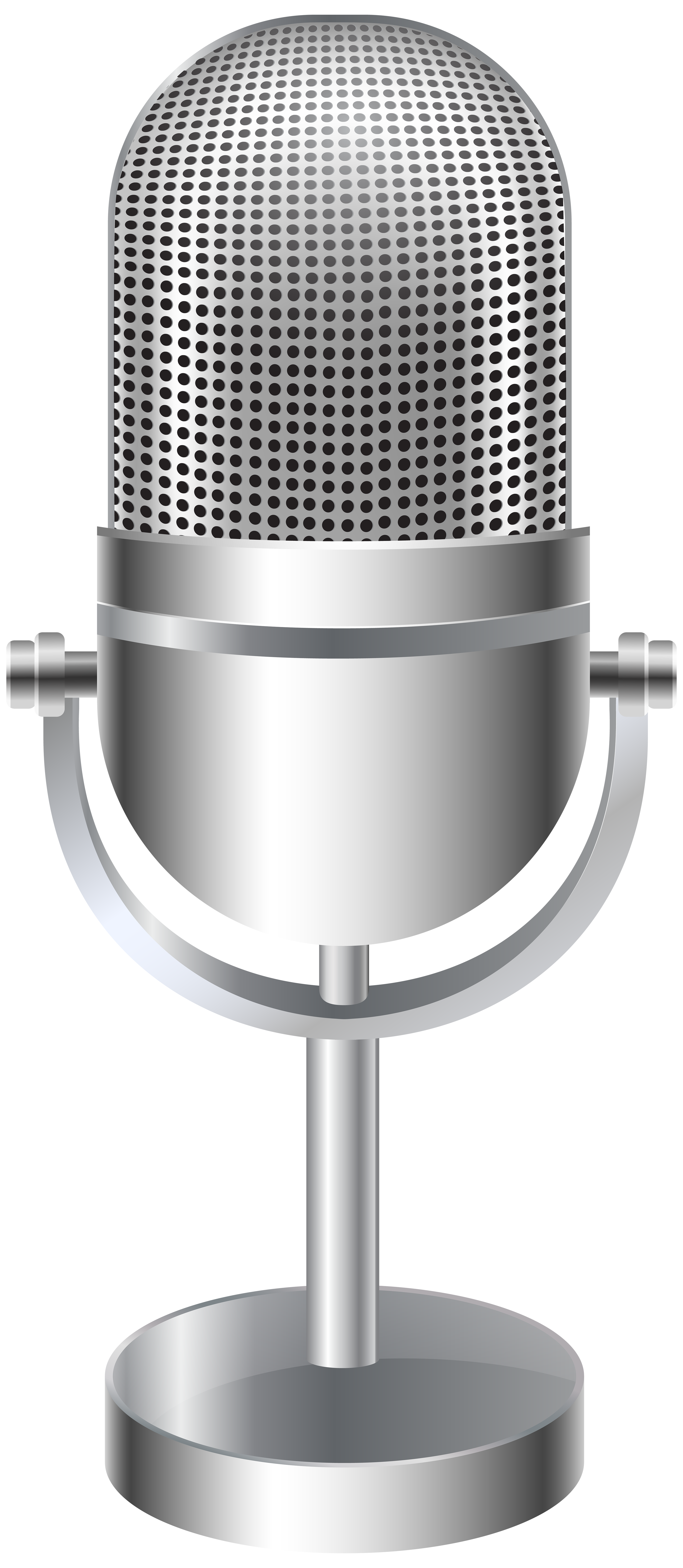 Microphone Stand PNG Clip Art Image.
