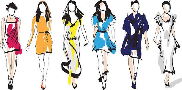 Best Fashion Model Illustrations, Royalty.