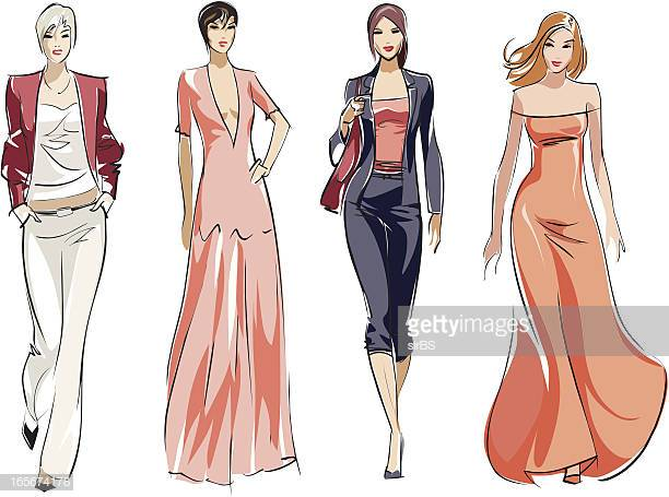60 Top Fashion Model Stock Illustrations, Clip art, Cartoons.