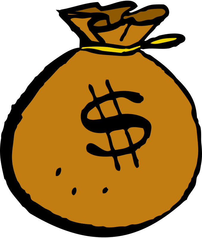 Free Clipart: Money bag.