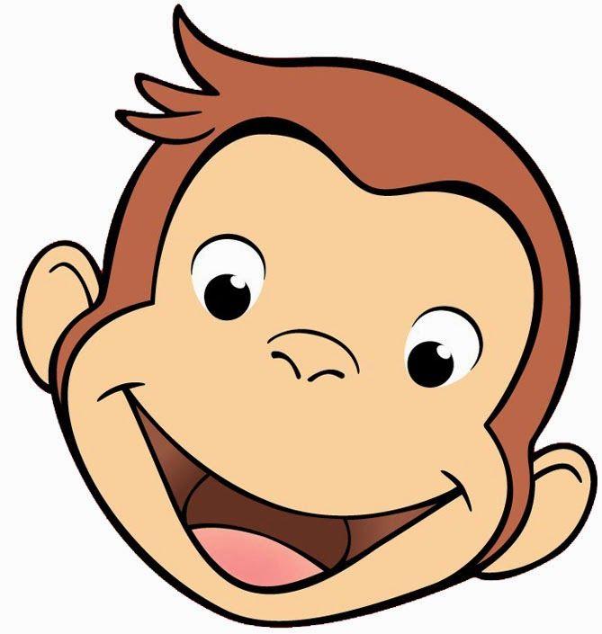 Cartoon Monkey Head Clipart.