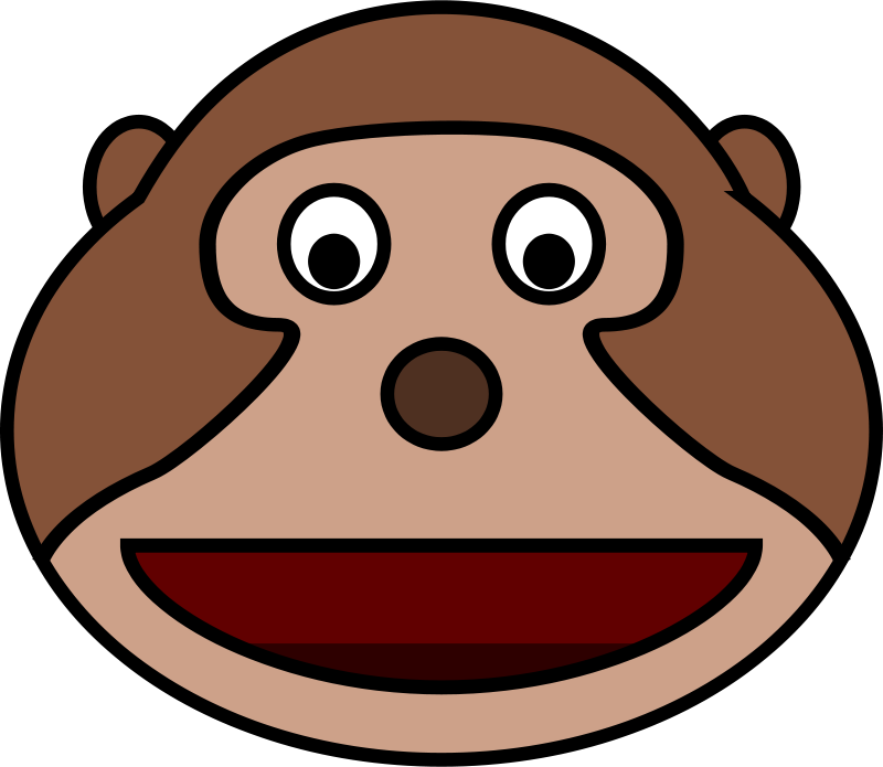 Free Clipart: Monkey head.
