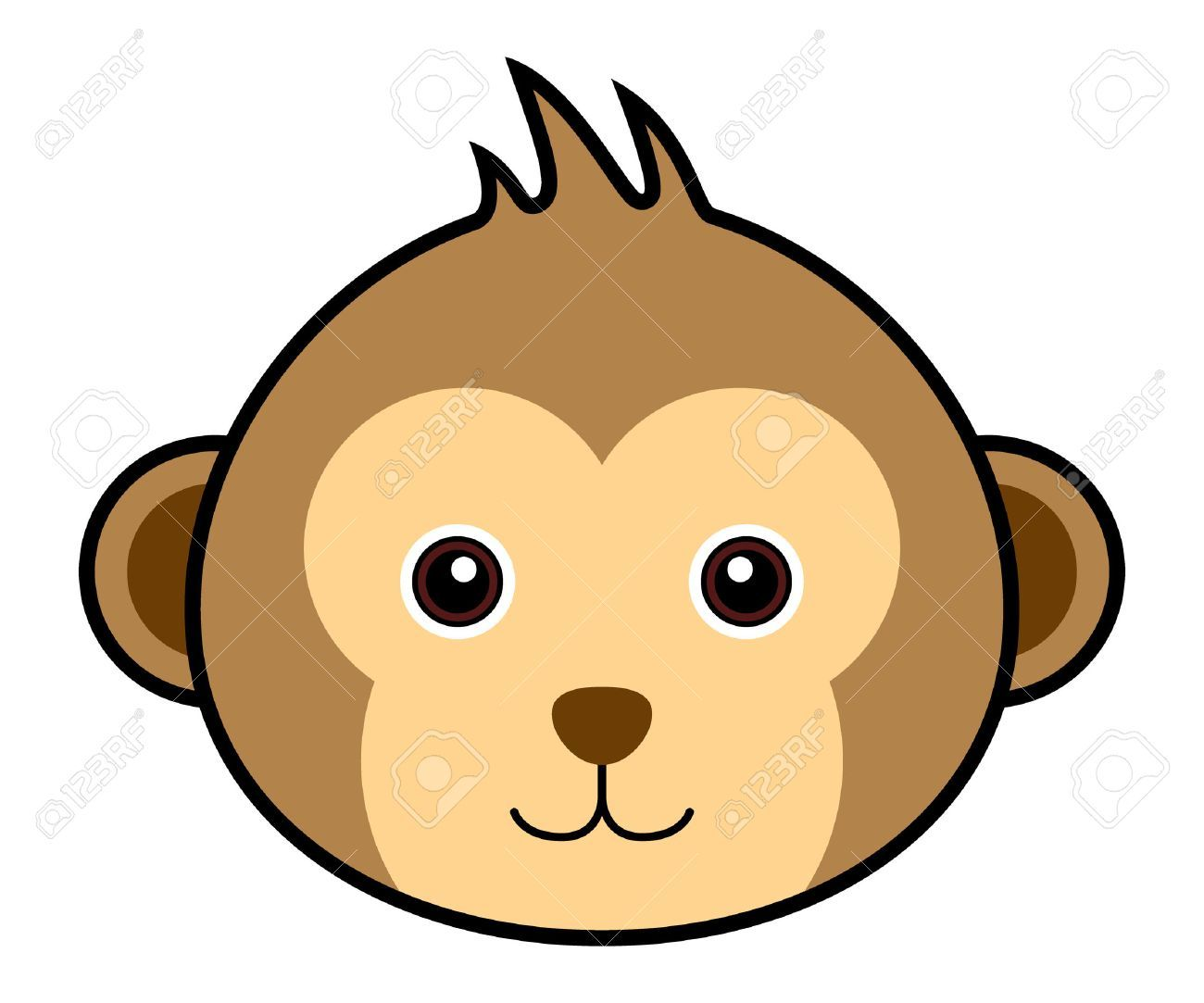 Monkey head clipart 3 » Clipart Portal.