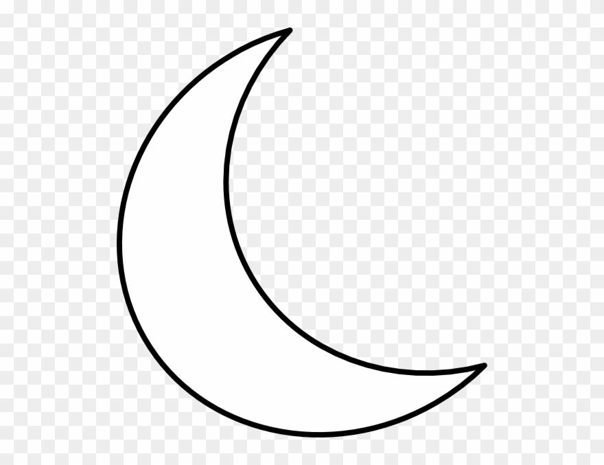 White Crescent Moon Clipart.