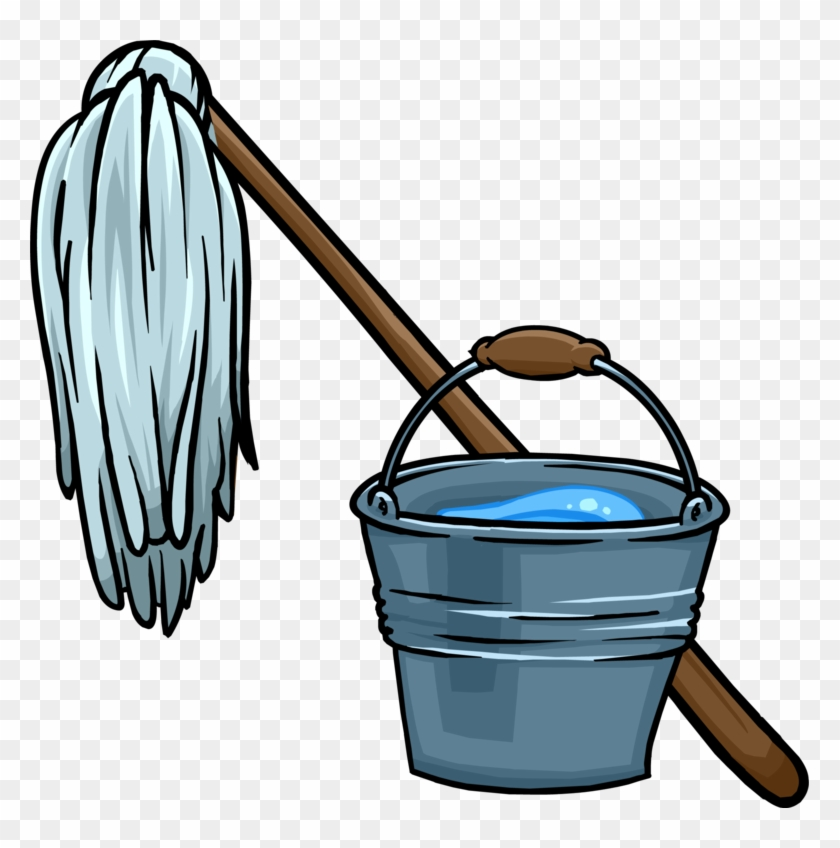 Mop And Bucket.