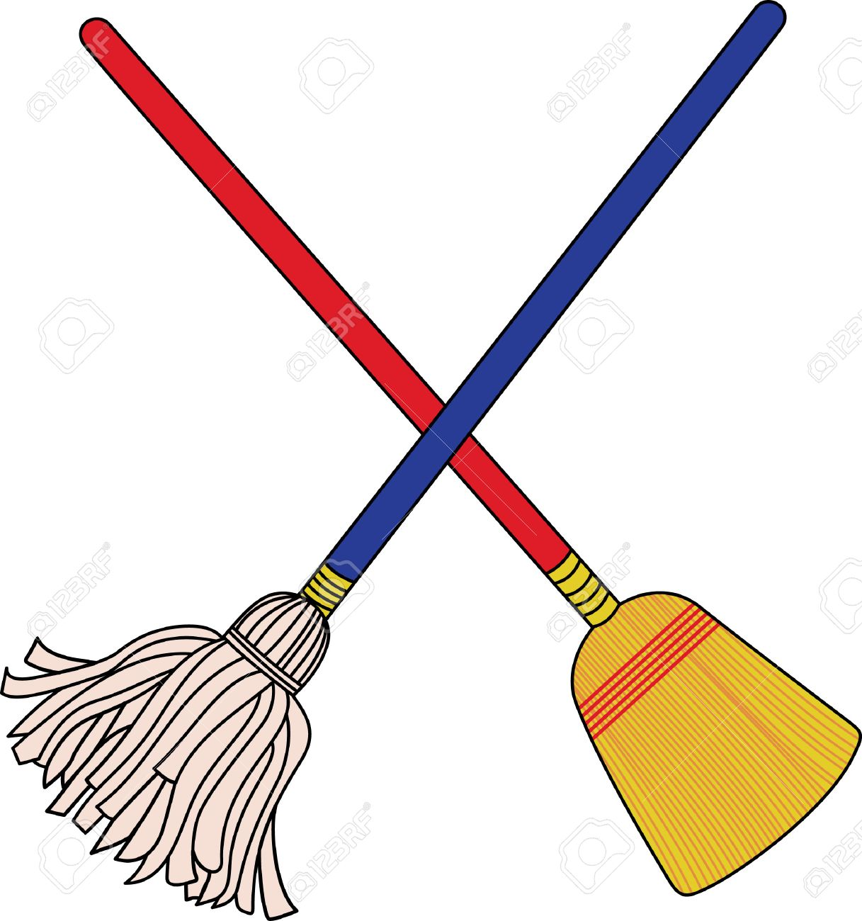 Mop And Broom Clipart & Free Clip Art Images #20401.