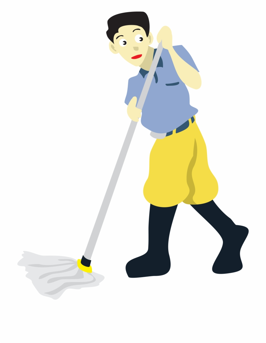 Floor Cleaning Mop Clip Art.